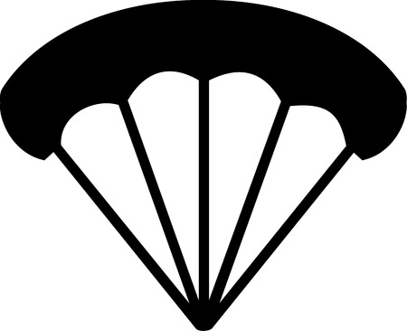 airplay: Parachute Icon Illustration