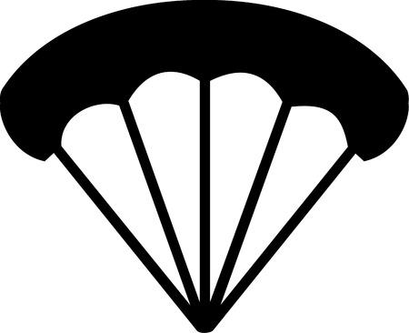 airplay: Parachute Icon Illustration