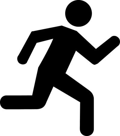 Running Icon Ilustracja