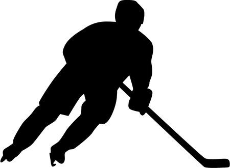 hockey hielo: Jugador de hockey sobre hielo  Vectores