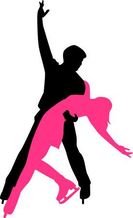 Ice Dancing Couple Illusztráció