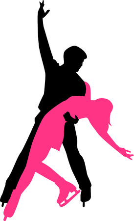 Ice Dancing Couple Illustration