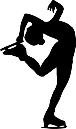 figure skater: Figure Skater Silhouette