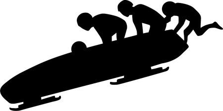 bobsleigh: Bobsleigh Silhouette
