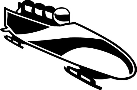Bobsleigh with crew Illustration