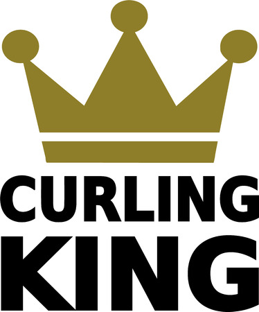 curling: Curling King Illustration