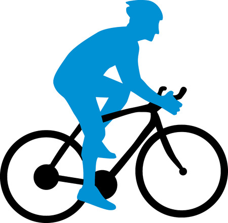 mountain bicycling: Cyclist Silhouette