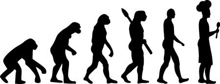 Cooking Evolution Illustration