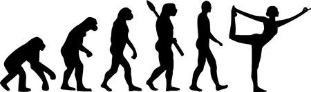 Yoga Evolution  イラスト・ベクター素材