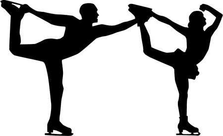 Figure Skater Mann und Frau