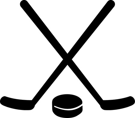 hockey equipment: Hockey Equipment Illustration