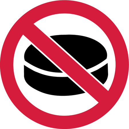 ban sign: No Hockey - Ban Sign