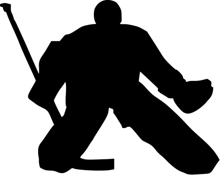 goalie: Hockey Goalie Illustration