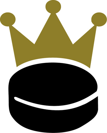 icehockey: Hockey Puk with Crown