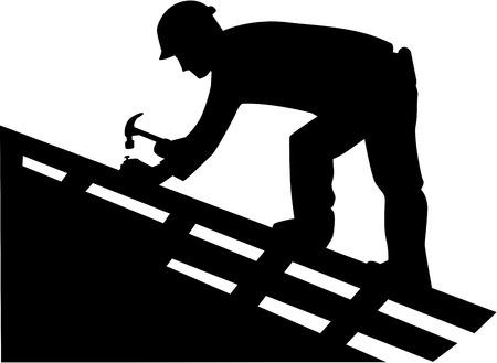 carpintero: Roofer Silueta