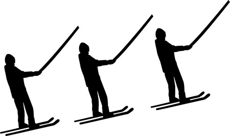 ice slide: Ski Lift Men