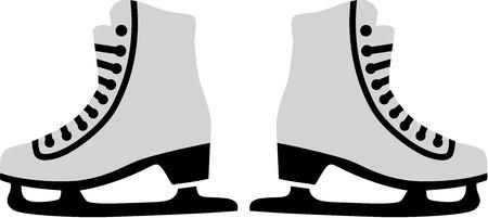 Figure Skates Illusztráció