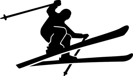 ice slide: Ski Run SIlhouette