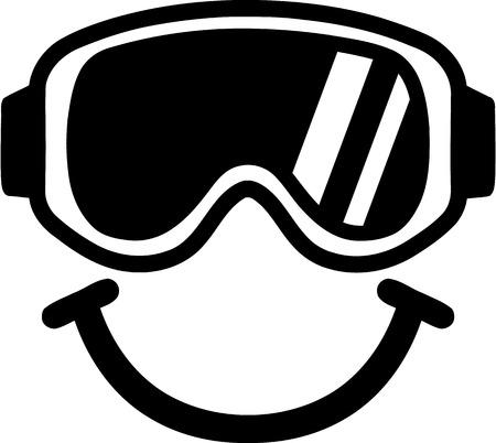 ski goggles: Ski Goggles Smiling