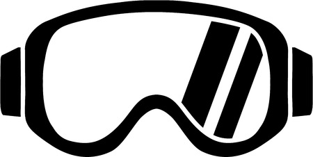 ice slide: Ski Goggles Icon Illustration