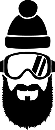 ski goggles: Ski Goggles Full Beard