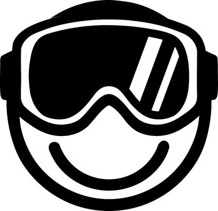 ski goggles: Smiley with Ski Goggles