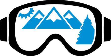 mountain view: Ski Goggles With Mountain View
