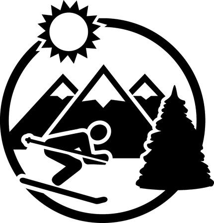 ice slide: Ski Mountains Badge