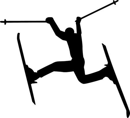 slalom: Crazy Skier Silhouette