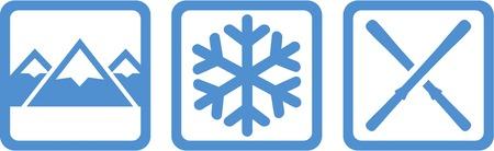 slalom: Winter Icons Mountains Snowflake Skis