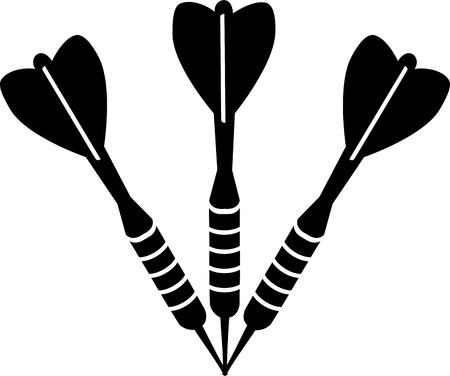 Darts Dart Arrows Illustration