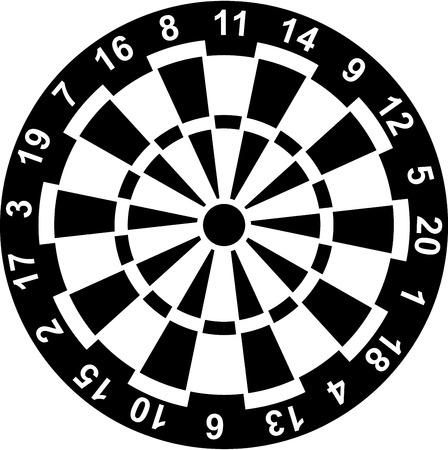 Dartbord met getallen Stock Illustratie
