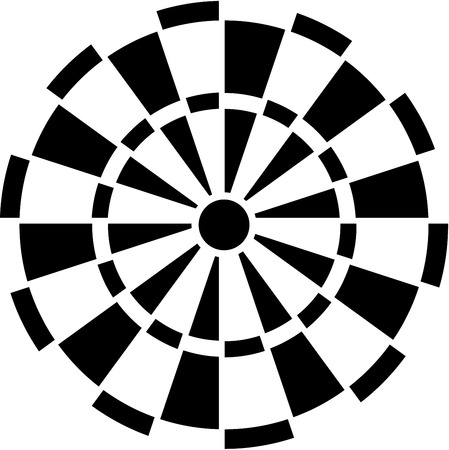 darts: Dartboard Illustration