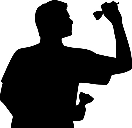 Darts Player Silhouette