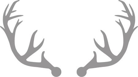 antlers: Grey deer antlers Illustration