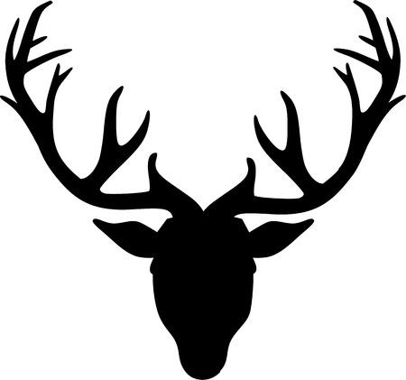 Deer Head Icône Banque d'images - 41478637