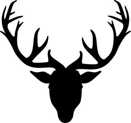 Deer Head Icon Illustration