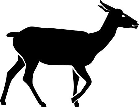 doe: Doe deer Silhouette Illustration