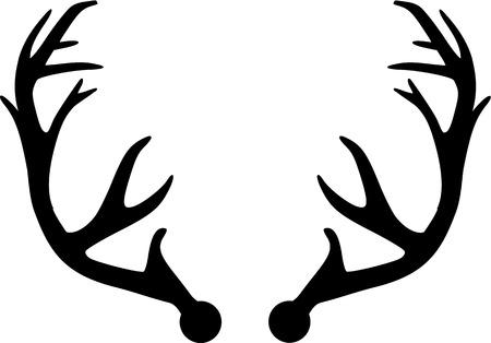 Deer Antler  イラスト・ベクター素材
