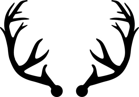 deer hunting: Deer Antler Illustration