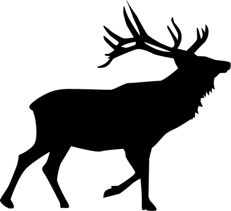 reindeer silhouette: Deer silhouette