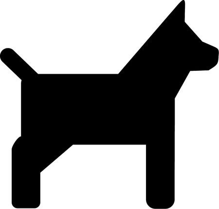 pincher: Simple Dog Icon Illustration