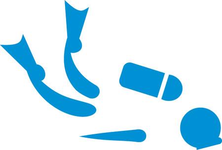 scuba: Scuba diving pictogram Illustration