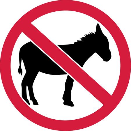 burro: No hay burros firman