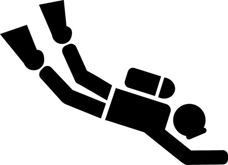 Scuba Diver Pictogram