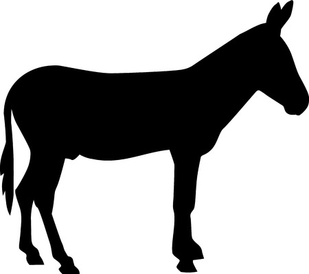 mule: Donkey silhouette Illustration