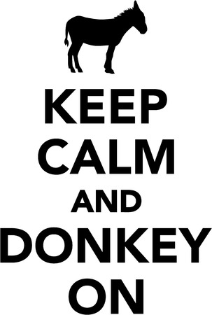 keep: Keep calm and donkey on Illustration