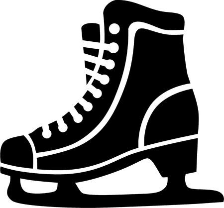 iceskating: Ice Skating Skates Illustration