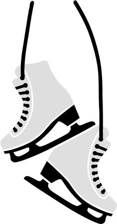 Hanging Figure Skates Illusztráció