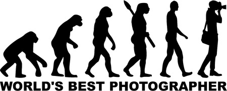 film history: Worlds Best Photographer Evolution Illustration